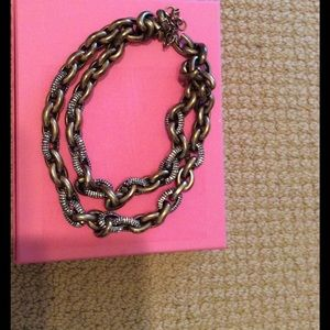 J.Crew Double Stranded Link Necklace