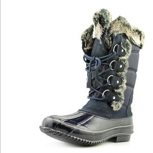 Khombu Shoes - Khombu Bryce Round Toe Synthetic Snow Boot in Navy