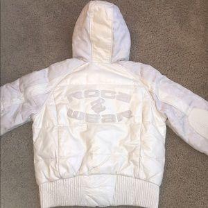 Rocawear Jackets & Blazers - Rocawear Leather Winter Coat with Faux Fur Hoodie
