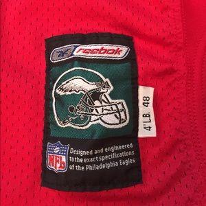 new arrival 65584 f5077 Philadelphia Eagles Red QB Practice Jersey - Worn