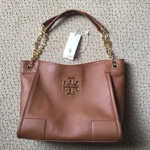 HOLD!! TORY BURCH Britten Small Slouchy Bark Tote