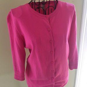 bp Sweaters - Bright pink cardigan