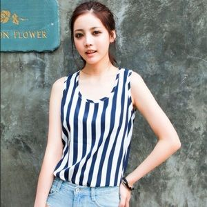 Liva Girl Tops - Vertical Striped Top