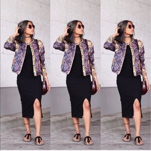 H&M quilted multi color bomber jacket