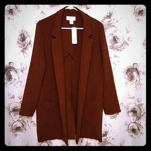 Elvi Jackets & Blazers - Longline Maroon Blazer