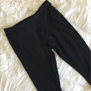 Asics Pants - ASICS Black Full Length Tights