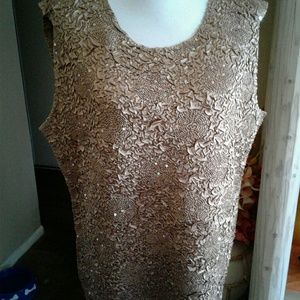 Carole Little Tops - NWT SEQUINED SLEEVELESS TOP SIZE 18