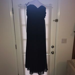 Alfred Angelo Dresses & Skirts - Floor-length black chiffon gown