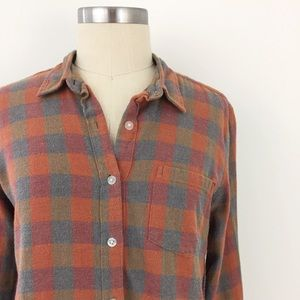 Steven Alan Tops - Steven Alan Brushed Check Collegiate Flannel Shirt