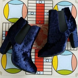 Kimchi Blue Shoes - 🆕️Listing! Blue Velvet Boots