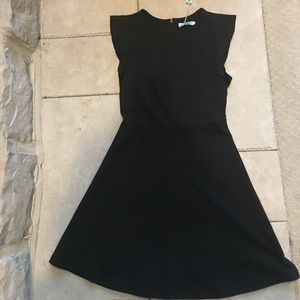 She + Sky black fit and flare dress