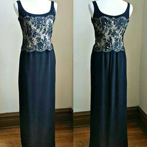 Emanuel Ungaro Dresses & Skirts - Emanuel Ungaro Long Silk Dress w/ Lace Top
