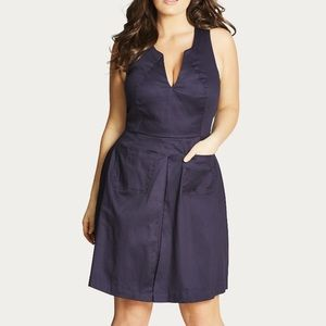 City Chic Dresses & Skirts - City Chic navy Mod dress