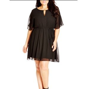 City Chic Dresses & Skirts - Black Chic city chiffon dress