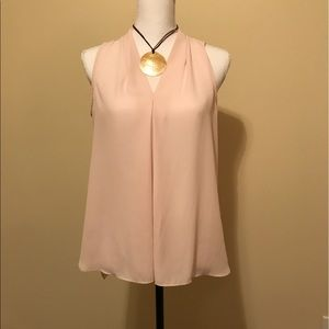 Vince Camuto Tops - Blush Pink Sheer Hi Lo Top Vince Camuto Small