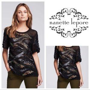 Nanette Lepore Constellation Beaded Top
