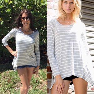 Tops - Heather Gray Striped Tunic