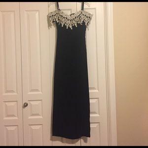 Vintage Dresses & Skirts - Vintage off the shoulder velvet dress