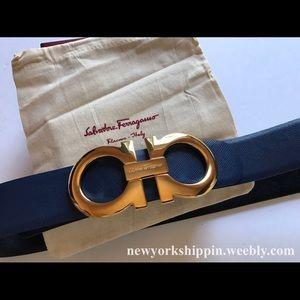 Ferragamo Other - Navy blue/black reversible ferragamo belt
