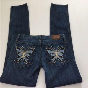 Frankie B. Denim - Frankie B. Butterfly Pocket Straight Jeans, 26
