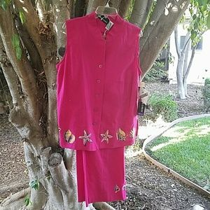 Sag Harbor Other - Pretty Fucha Summer 2 pc Outfit - NWT