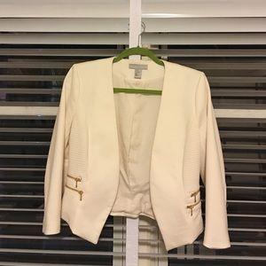 H&M blazer gold zippers size 10