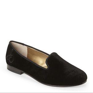 Sam Edelman Shoes - Sam Edelman Velvet Black Flat Shoes