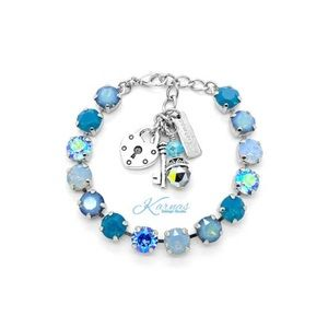 SEA OF OPALS 8mm Crystal Charm Bracelet
