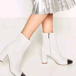 Zara boots with silver tip toe