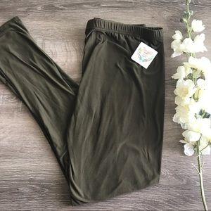 Pants - PLUS Olive green leggings