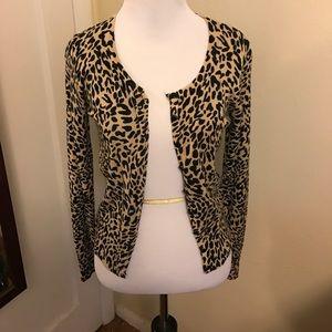 Voodoo Vixen Sweaters - Voodoo Vixen Rockabilly Leopard Print Cardigan