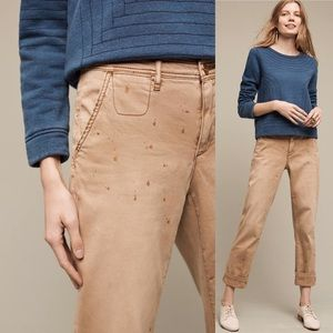 Anthropologie Pants - Anthropologie Paint Splatter Gold Chinos