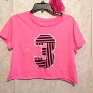 City Streets Tops - NEW WITH TAGS Pink Crop Top