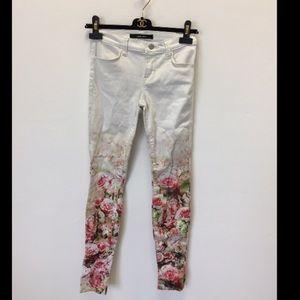 J Brand Floral Skinny Jeans Size 25