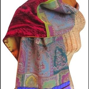 Etro Accessories - Authentic ETRO Scarf With Muff In Silk and Fur
