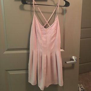 Lulu's Dresses & Skirts - Nude strappy back romper