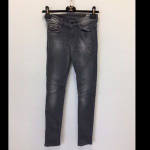 Diesel grey Hi-VY slim straight skinny jeans 24