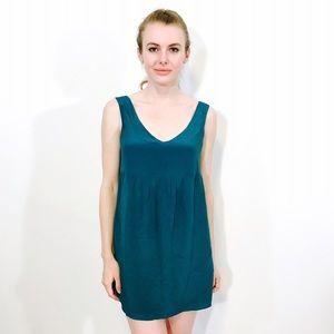 Twelve by Twelve  Dresses & Skirts - TWELVE BY TWELVE SILK GREEN MINI DRESS