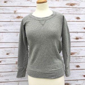 J. Crew Grey Side Zip Cotton Sweatshirt