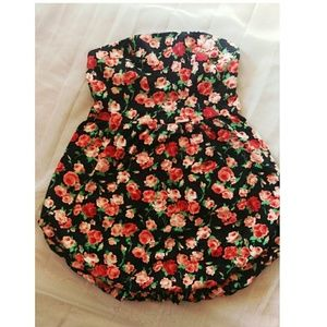 Pins & Needles Dresses & Skirts - Pins And Needles Womens Black Pink Rose Floral Bub
