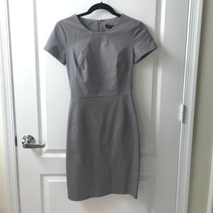 Gray Banana Republic Short Sleeve Sheath sz 0