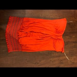 Entro Tops - Entro Coral/red strapless top
