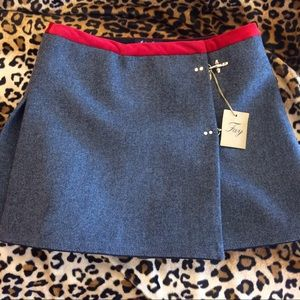 Fay Dresses & Skirts - Fay made in Italy wool mini skirt with hook clasps