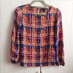 J. Crew Tops - J. Crew Collection abstract print keyhole top 2