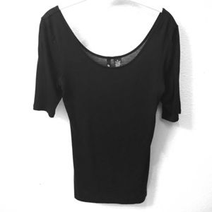Ultra Flirt Tops - NWOT Black Scoop Neck Blouse Size Medium