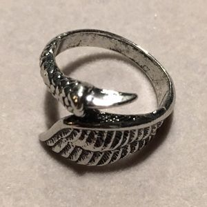 Other - Stainless steal silver wing claw Punk biker ring