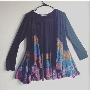 Sweaters - ❤️SALE❤️Tie-dye black sweater women's size medium