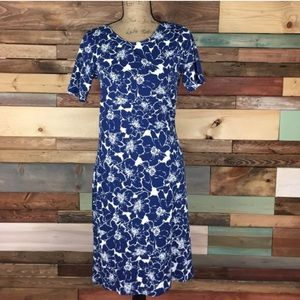 Lands' End Dresses & Skirts - Lands End Blue Hawaiian Floral Knit Dress - 6/8