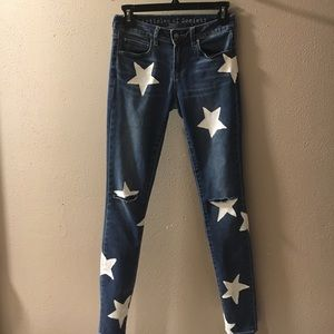 articles of society Denim - Articles of Society hand painted jeans