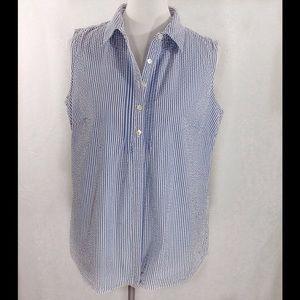 L.L. Bean Tops - L.L. Bean Pin Tuck Front Sleeveless Shirt